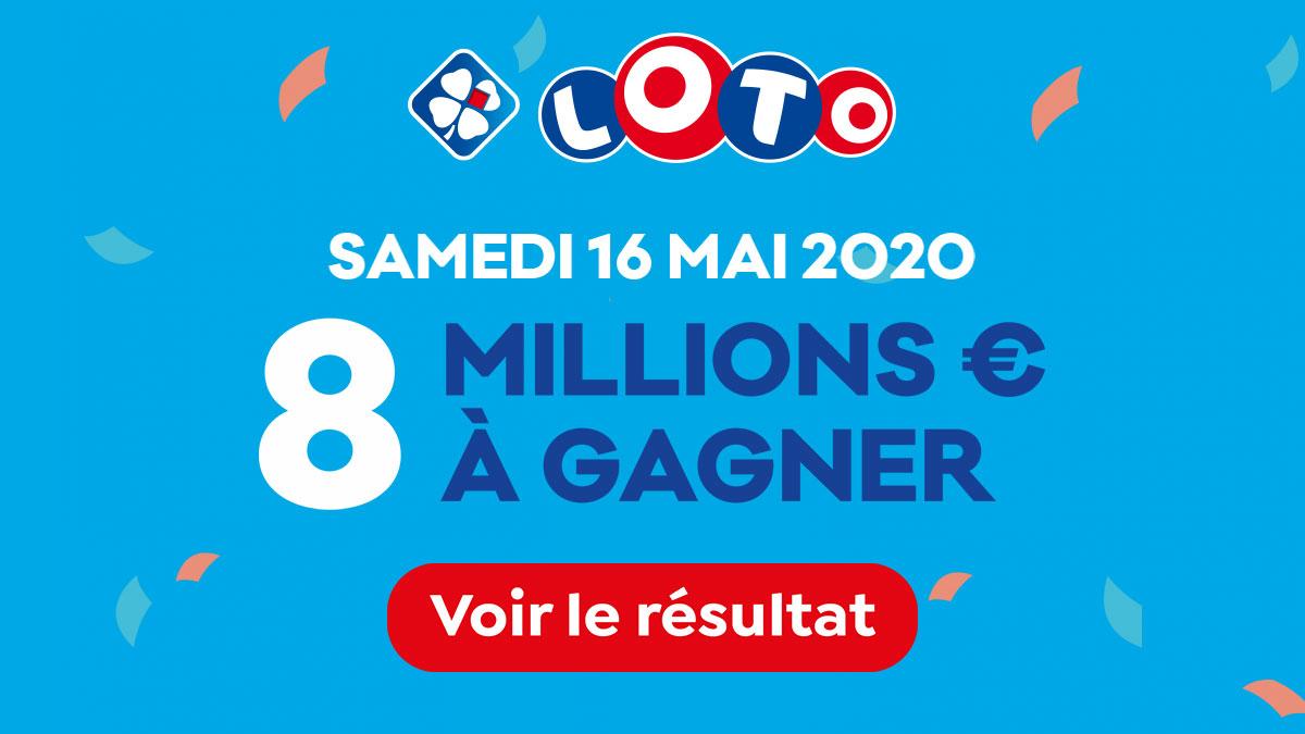Résultat du tirage du Loto du samedi 16 mai 2020