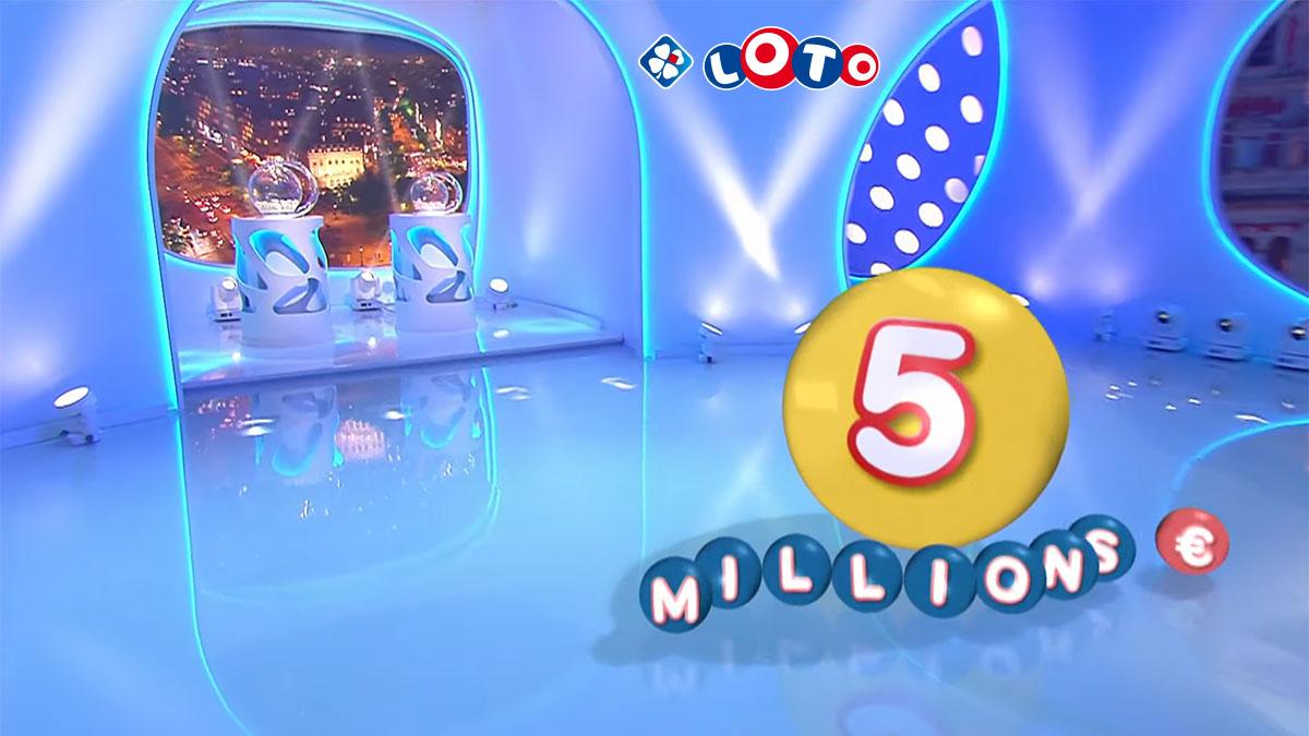 Cagnotte de 5 millions d'euros en jeu au tirage du Loto de la Française des Jeux